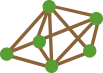 Icon of network of nodes - shop across multiple brands