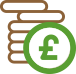 Icon of a stack of coins - single payment